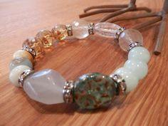 BoHo Multi Gemstone Czech Crystal Summer Beachy by MarleeLovesRoxy, $45.00