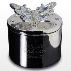 Beautiful Bridesmaid Gift Idea - Butterfly Trinket Gift