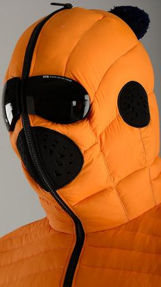 AI Riders On The Storm - Orange zip up down jacket