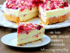 Manila Spoon: No Bake White Chocolate Cranberry Cheesecake