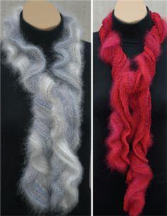 Free pattern - angora ruffled scarf