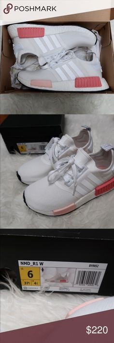 the latest 4ce24 f2b6b BNIB Adidas White Icey Pink NMD Most retailers no longer have this size of  NMDs instock