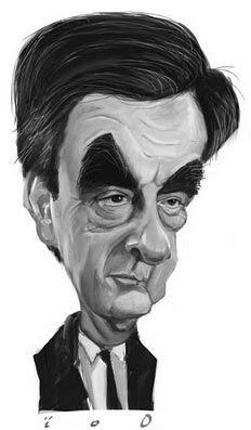 Caricature François Fillon : Cựu thủ tướng Pháp
