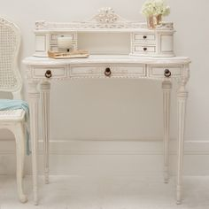 Clearance - Classical White Ladies Writing Desk/Dressing Table (DISCONTINUED AND SOLD OUT)