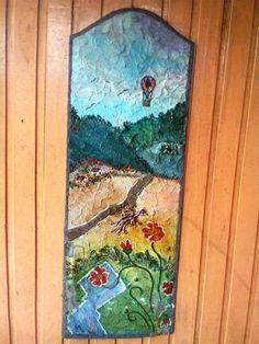 pintura sobre porta reciclada