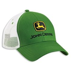 John Deere Green & White Mesh Back Caps | WeGotGreen.com