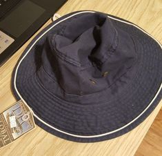 NEW Boonie Fishing HAT DPC Dorfman Pacific Co. Large Navy Blue 100% Cotton   c4ee6c75d2de
