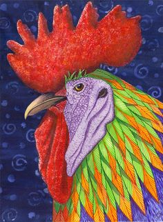 Cock a Doodle Dude III Painting by Catherine G McElroy - Cock a Doodle Dude III Fine Art Prints and Posters for Sale
