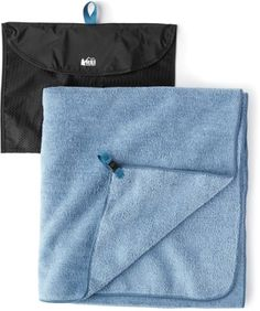 Our softest and most luxurious so far, the REI Co-op Multi Towel Deluxe dries you off quickly and comfortably in camp, on the road or at the gym. And it's still lightweight and easy to pack. Available at REI, Satisfaction Guaranteed. Soft Towels, Cotton Towels, Op Logo, Camping And Hiking, Mens Tops, Heaven, Blue, Product Review, Footprints