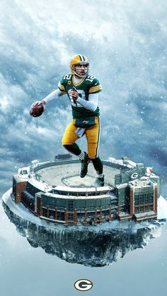 Nfl Football Players, Packers Football, Football Art, Football Helmets, Greenbay Packers, Football Season, Green Bay Packers Wallpaper, Green Bay Football, Rodgers Green Bay