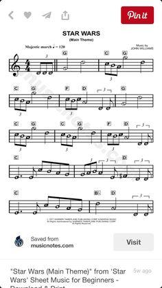 Star Wars (Main Theme) sheet music from Star Wars Star Wars Sheet Music, Keyboard Sheet Music, Saxophone Sheet Music, Violin Music, Beginner Piano Music, Easy Sheet Music, Easy Piano Sheet Music, Piano Music Notes, Christmas Piano Sheet Music