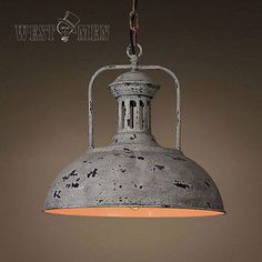 New Vintage Industrial Rustic Metal Dome Pendant Light Hanging Lamp Art Deco