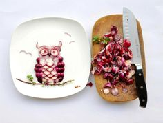 owl made of onions//via Hither and Thither Blog