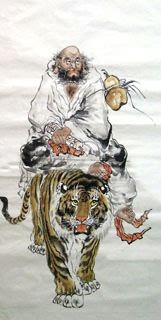 Chinese Da Mo x x Painting. Buy it online from InkDance Chinese Painting Gallery, based in China, and save Chinese Prints, Japanese Prints, Chinese Art, Japanese Art, Zen Painting, Chinese Painting, Artist Painting, Asian Artwork, Art Rules