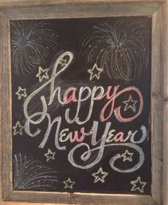 New Years Chalkboard