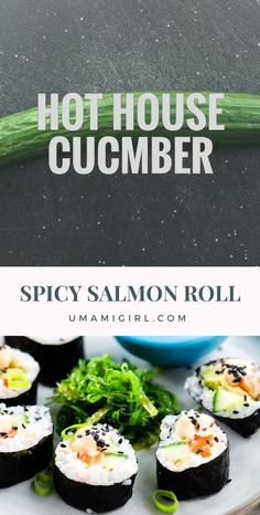 Cooked Sushi Recipes, Sushi Roll Recipes, Baked Salmon Recipes, Cooking Recipes, Healthy Recipes, Fish Recipes, Healthy Meals, Asian Recipes, Healthy Food