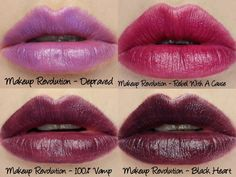 Makeup revolution full v lipstick collection swatches review this gorgeous lip colour was pared by raspberry kiss against the cult favourite mac rebel lipstick and it 39 s pretty obvious that it is meant to be a dupe makeup revolution amazing lipstick review swatches middot and a matte finish what more does a need i also found this one applied the