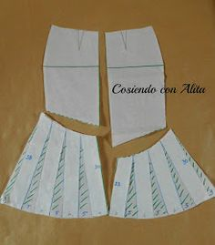 Realizar el molde base entero, en los costados da la falda , desde la linea de l… Make the entire base mold, on the sides of the skirt, from the line of the basin in a vertical way to signal 38 cm and 30 cm and in … Sewing Ruffles, Skirt Patterns Sewing, Sewing Lessons, Fashion Sewing, Business Attire, Diy Clothing, Sewing Techniques, Printed Skirts, Skirt Outfits