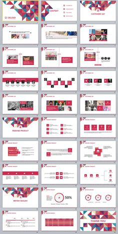 30+ Red Criclegra Corporate Business PowerPoint templates