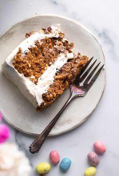 Vegan Carrot Cake - Food Faith Fitness Vegan Lemon Cake, Lemon Loaf Cake, Vegan Carrot Cakes, Vegan Cake, Cake Ingredients List, Cake Dip, Banana Walnut Bread, Summer Dessert Recipes, Cake Truffles