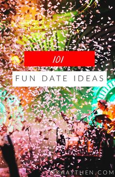 Okay, so we can all admit that the dating game gets a bit dull - dinner and movie is only exciting so many times. This list however totally combats that. From paintballing to psychic readings to camping to dumping dead bodies (kidding...ish) this list of 101 date ideas is FUN; it's EXCITING and it is a total memory maker! - { 101 Fun and Unique Date Ideas // Lifestyle }