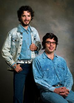 Flight of the Conchords. Bret McKenzie and Jemaine Clement. I can't look at this and not laugh.
