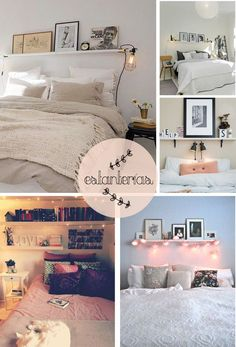 Ideas for living and sleeping without a headboard or how to have a headboard without having - Headboards that are not headboards or how to sleep without them - Chic Apartment Decor, Apartment Living, Ikea Bedroom, Bedroom Decor, Floating Shelves Bedroom, Happy Room, Headboard Decor, Big Girl Rooms, Headboards For Beds