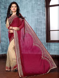 Saree is ready to make you look apart in crowd. Item code: SUM16058 http://www.bharatplaza.com/new-arrivals/sarees.html