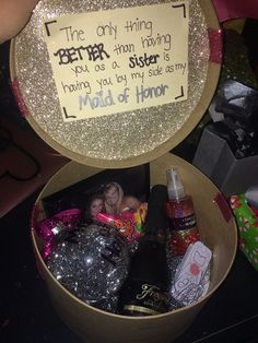 How I asked my sister to be my maid of honor