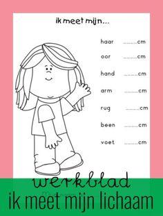 Worksheet: I measure my body - Back to School First Day Of School, Pre School, Back To School, School Teacher, Primary School, Phonics Chart, School Readiness, Creative Kids, Kids Learning