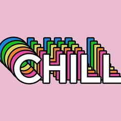 'Chill rainbow' by adepartha Cute Patches, Snapchat Stickers, Tumblr Stickers, Hippie Art, Photoshop, Chalk Art, Graphic Design Inspiration, Sticker Design, Wall Collage
