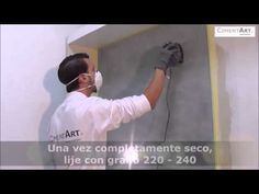 MICROCEMENTO SOBRE AZULEJO - YouTube Ideas Para, Youtube, Videos, Washroom, Log Projects, Painted Tiles, House Decorations, Paintings, Shower Walls