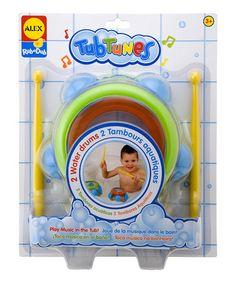 Look at this #zulilyfind! Tub Tunes Water Drum Set by Rub-a-Dub #zulilyfinds