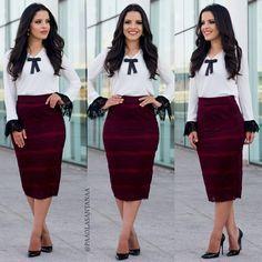 b83b2193f Ver esta foto do Instagram de @paaolasantanaa • 3,488 curtidas Blusas Moda  Evangelica, Fardamento