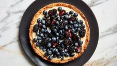 Fresh Fruit Tart with Almond Crust Recipe | Bon Appetit