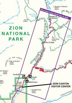 ZION PARK MAP UTAH - ToursMaps.com ®