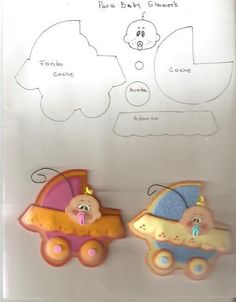 baby and carriage - could use for paper piecing