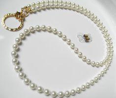 Cream Swarovski Pearl Gold Convertible by BeaditudeBoutique Bridesmaid Accessories, Bridesmaid Jewelry Sets, Bridal Jewelry Sets, Lanyard Necklace, Eyeglass Holder, Bridal Bracelet, Shell Jewelry, Jewelry Making Tutorials, Swarovski Pearls