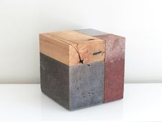 Phillip Finder Architectonic Composition in Pigmented Concrete, Oak, Brass, Steel and Red Clay. 2014