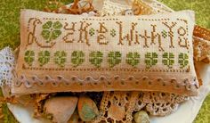 'Luck Be with You' by Homespun Elegance - like the font work - like the rick-rack border