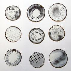 amanda denison. 9 brooches, industrial enamel on steel.