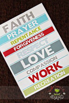 """Proclamation Print - based on key words found in LDS """"The Family: A Proclamation to the World"""" Family Proclamation, Proclamation To The World, Marriage And Family, All Family, Young Women Lessons, Family Home Evening, Visiting Teaching, Lds Church, Lds Quotes"""