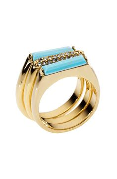 Michael Kors 'Sleek Exotics' Pavé Bar Stack Rings (Set of 3) available at #Nordstrom