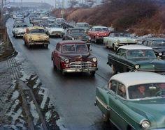 New York traffic in 1950's