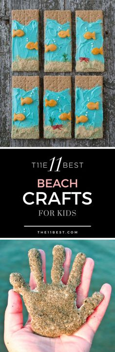 The 11 best children's beach crafts 0 Check out the Sandton handprints . The 11 best children's beach crafts 0 Check out the Sandton handprints … brilliant summer activity Toddler Beach, Beach Kids, Beach Fun, Summer Kids, Fun Beach Games, Beach Crafts For Kids, Ocean Crafts, Toddler Crafts, Beach Themed Crafts