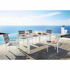 Table de jardin en aluminium gris clair L 180 cm Escale | Maisons du Monde