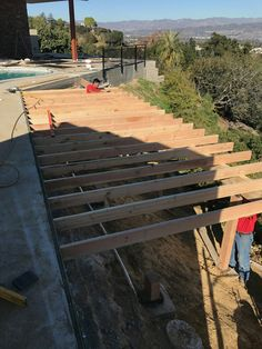 Building the New Deck with Killer Views at Wrightwood.