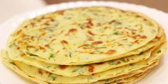 Cheese pancakes with herbs. Ingredients: 200 g flour; 50 ml of vegetable oil; 300 ml of water; 1 clove of garlic; 1 small bunch of green; Czech Recipes, Russian Recipes, Ethnic Recipes, Easy Cooking, Cooking Recipes, Veggie Recipes, Healthy Recipes, Drink Recipe Book, Healthy Cook Books