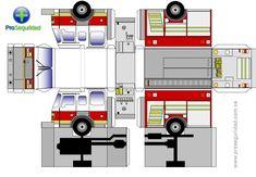 Papercraft Ford Truck | Camión de Bomberos para Recortar y Construir