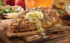 TGI Fridays Bourbon Barrel Chicken - Flame-grilled and served over bourbon-infused wood planks